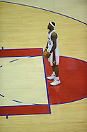The Washington Wizards defeated the Cleveland Cavaliers 88-87 in Game 5 of the First Round of the NBA Playoffs, April 30, 2008 at Quicken Loans Arena in Cleveland..LeBron James of Cleveland prepares to take a foul shot.