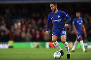 Eden Hazard of Chelsea in action. Carabao Cup 3rd round match, Chelsea v Nottingham Forest at Stamford Bridge in London on Wednesday 20th September 2017.<br /> pic by Steffan Bowen, Andrew Orchard sports photography.