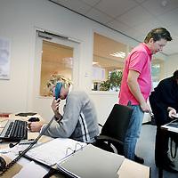 Nederland, Amsterdam , 28 september 2010..Een kijkje op de afdeling acute psychiatrie, crisishulpverlening van de Valeriuskliniek..De meldkamer ABT VAL 9..Control room of the psychiatric hospital Valeriuskliniek in Amsterdam.