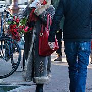 NLD/Amsterdam/20121208 - Herdenkingsdienst voor de verleden Jeroen Willems, Jasperine de Jong