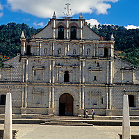 Americas, Central America; Guatemala. The 16th century San Francisco Assis mission in Panajachel, Guatemala.