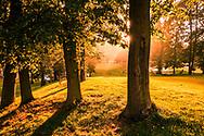 18-09-2015: Golf & Spa Resort Konopiste in Benesov, Tsjechië.<br /> Foto: Avondzon bij de achttiende van Golf d'Este