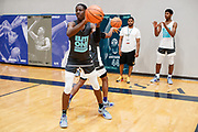 ST. LOUIS, MO June 8, 2018 - Nike Elite 100.   Terrence Clarke 2021 #56 of Expressions passes during drill. <br /> NOTE TO USER: Mandatory Copyright Notice: Photo by Jon Lopez / Nike