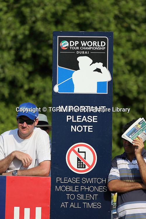 during second round DP World Tour Championship 2013,Jemeirah Golf Estates, Dubai,UAE.