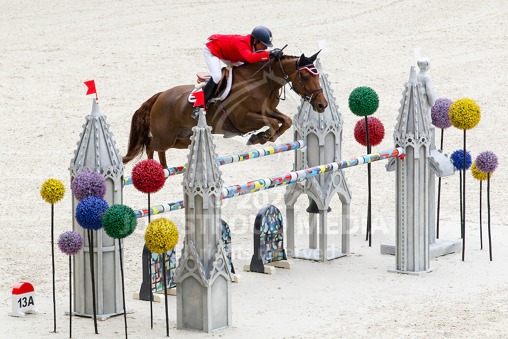 Sameh El Dahan, (EGY), Suma s Zorro - Team & Individual Competition Jumping Speed - Alltech FEI World Equestrian Games™ 2014 - Normandy, France.<br /> © Hippo Foto Team - Leanjo De Koster<br /> 02-09-14