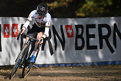 October 21, 2018 - Bern, SWITZERLAND - Belgian Eli Iserbyt pictured in action during the U23 race at the UCI Cyclocross World Cup cyclocross event in Bern, Swiss Confederation, Sunday 21 October 2018, the third of nine stages in the World Cup trophy in the 2018-2019 season. BELGA PHOTO DAVID STOCKMAN (Credit Image: © David Stockman/Belga via ZUMA Press)