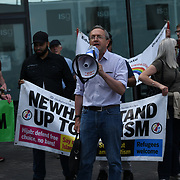 Speaker Simon Pirani is a British writer, historian at the Stop the Silvertown tunnel on 5th May 2021 in London.