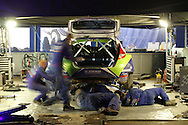 Wales Rally GB 2010, service area in Cardiff.