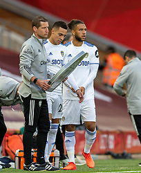 LIVERPOOL, ENGLAND - Saturday, September 12, 2020: Leeds United's Tyler Roberts prepares to come on as a substitute for his Premier League debut during the opening FA Premier League match between Liverpool FC and Leeds United FC at Anfield. The game was played behind closed doors due to the UK government's social distancing laws during the Coronavirus COVID-19 Pandemic. Liverpool won 4-3. (Pic by David Rawcliffe/Propaganda)