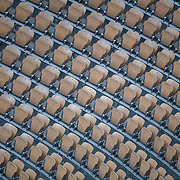 PARIS, FRANCE October 11.  Empty seats in the stadium due to Covid-19 restrictions during the Rafael Nadal of Spain match against Novak Djokovic of Serbia in the Singles Final on Court Philippe-Chatrier during the French Open Tennis Tournament at Roland Garros on October 11th 2020 in Paris, France. (Photo by Tim Clayton/Corbis via Getty Images)