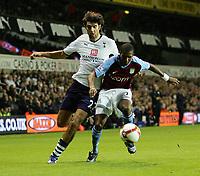 Tottenham Hotspur FC vs Aston Villa FC Premier League 15/09/08<br /> Photo Nicky Hayes/Fotosports International<br /> Ashley Young and Vedran Corluka