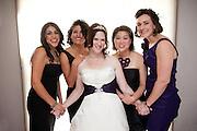A Sacramento bride with her bridesmaids before her wedding.
