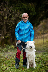 Portrait of Andrej (with his dog Runo) one of first Slovene, who climbed the world's highest mountain Mount Everest in 1979 and later in 1990 together with his wife Marija as the first married couple in the world, on November 11, 2020 in SRC Stozice, Ljubljana, Slovenia. Photo by Vid Ponikvar/Sportida