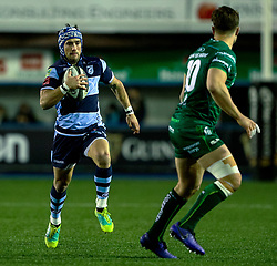 Matthew Morgan of Cardiff Blues<br /> <br /> Photographer Simon King/Replay Images<br /> <br /> Guinness PRO14 Round 14 - Cardiff Blues v Connacht - Saturday 26th January 2019 - Cardiff Arms Park - Cardiff<br /> <br /> World Copyright © Replay Images . All rights reserved. info@replayimages.co.uk - http://replayimages.co.uk
