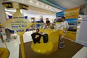 Bangkok's brand new Suvarnabhumi airport. Duty free shopping area. VISA card lucky draw.