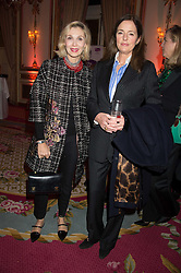 Left to right, ALLEGRA HICKS and MINNIE CECIL at a reception and talk in honour of the late Loulou de La Falaise hosted by CLIC Sargent held at The Ritz, Piccadilly, London on 2nd November 2015.
