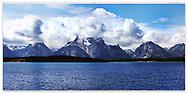 Early afternoon following a stormy morning at Jackson Lake and Grand Teton National Park, Wyoming, USA