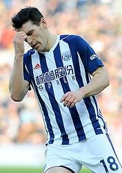 Gareth Barry of West Bromwich Albion cuts a dejected figure -Mandatory by-line: Nizaam Jones/JMP - 24/02/2018 - FOOTBALL - The Hawthorns - West Bromwich, England - West Bromwich Albion v Huddersfield Town- Premier League