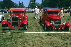 Hot Rods At Car Show