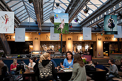 Cafe and chic fashion shops in Sodermalm district of Stockholm Sweden 2009