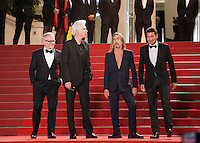 Director Jim Jarmusch and Iggy Pop with Festival director Thierry Fremaux at the gala screening for the film Gimme Danger at the 69th Cannes Film Festival, Thursday 19th May 2016, Cannes, France. Photography: Doreen Kennedy