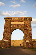 The arch over the North Enterance near Gardiner, Yellowstone National  Park, Wyoming.