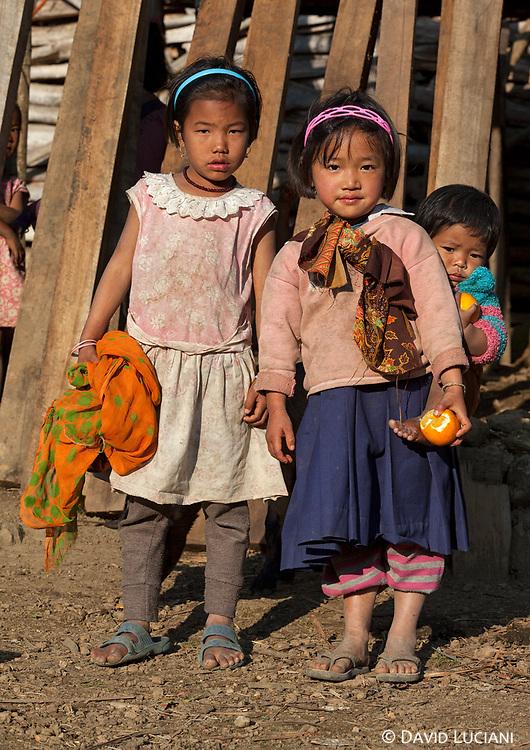 Kids posing in Pangi village.