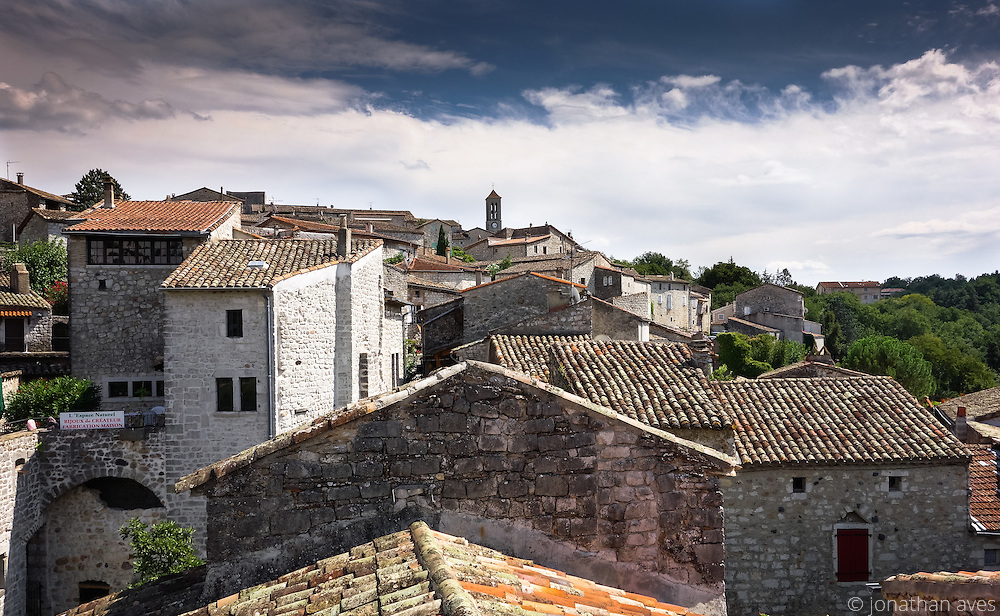 Rooftops of Balazuc, Ardèche, France