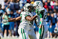 Dutch Fork Silver Foxes Rasheed Rucker and Dutch Fork Silver Foxes Anthony Demasi (23) celebrate a sack against the Dorman Cavaliers in the Class AAAAA State Championship Game at Williams-Brice Stadium in Columbia, SC. Dutch Fork wins their 4th straight state championship at Williams Brice Stadium. Photos ©JeffBlakePhoto.com