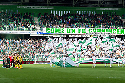 the players of FC Groningen and Roda JC at the line up during the Dutch Eredivisie match between FC Groningen and Roda JC Kerkrade at Noordlease stadium on April 15, 2018 in Groningen, The Netherlands