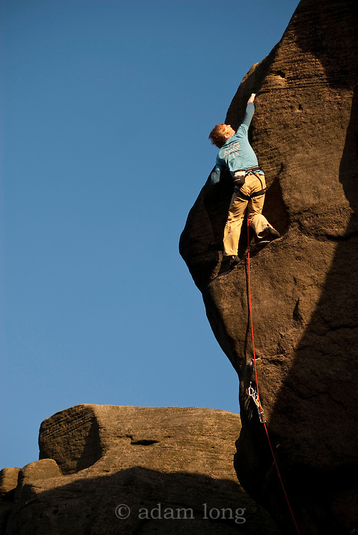 Ben Bransby attempting Parthian Shot, E9, ground-up
