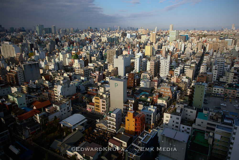 Cityscape of Tokyo.