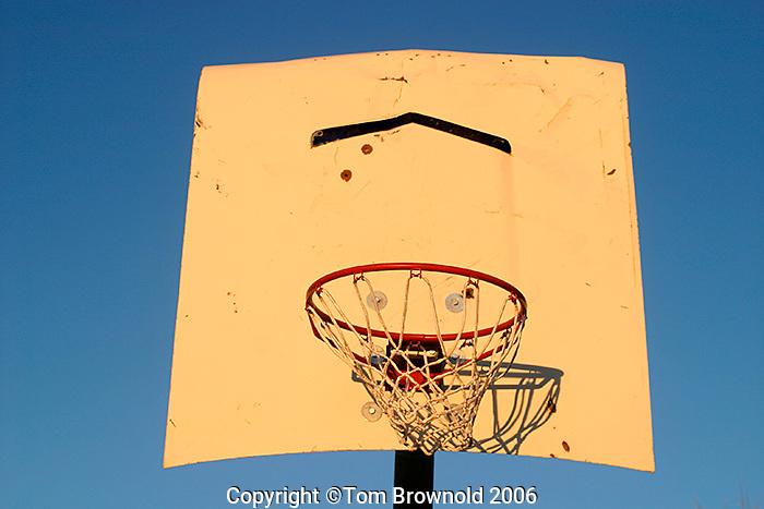 basketball hoop on car hood