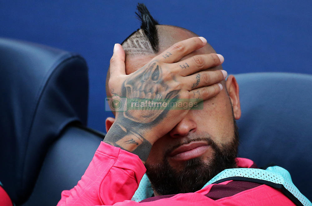 September 18, 2018 - Barcelona, Spain - Arturo Vidal during the match between FC Barcelona and PSV Eindhoven, corresponding to the week 1 of the group stage of the UEFA Champions Leage, played at the Camp Nou Stadium, on 18th September, 2018, in Barcelona, Spain. (Credit Image: © Urbanandsport/NurPhoto/ZUMA Press)