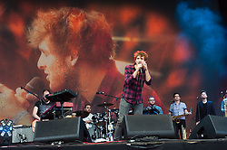 © Licensed to London News Pictures. 14/06/2015. Isle of Wight, UK.   Paolo Nutini performing live at Isle of Wight Festival 2015, Day 4 Sunday.   Headline acts include The Prodigy, Blur and Fleetwood Mac.   Photo credit : Richard Isaac/LNP