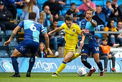 Sam Matthews of Bristol Rovers takes on Curtis Thompson of Wycombe Wanderers - Mandatory by-line: Robbie Stephenson/JMP - 18/08/2018 - FOOTBALL - Adam's Park - High Wycombe, England - Wycombe Wanderers v Bristol Rovers - Sky Bet League One