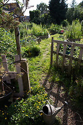 Sipson, UK. 5th June, 2018. A cultivated area is pictured at Grow Heathrow. Grow Heathrow is a squatted off-grid eco-community garden founded in 2010 on a previously derelict site close to Heathrow airport to rally support against government plans for a third runway and it has since made a significant educational and spiritual contribution to life in the Heathrow villages, which remain threatened by Heathrow airport expansion.