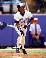 TORONTO - 1988: Jesse Barfield of the Toronto Blue Jays bats during an MLB game at Exhibition Stadium in Toronto, Ontario, Canada during the 1988 season.  *** Local Caption *** Jesse Barfield