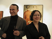 Iegor Gran and Catherine Gran. Catherine Gran/Adolf Geudens. Albermarle Gallery. albermarle St. London  27 Feb 2002. © Copyright Photograph by Dafydd Jones 66 Stockwell Park Rd. London SW9 0DA Tel 020 7733 0108 www.dafjones.com