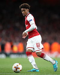 Arsenal's Reiss Nelson during the Europa League match at the Emirates Stadium, London.