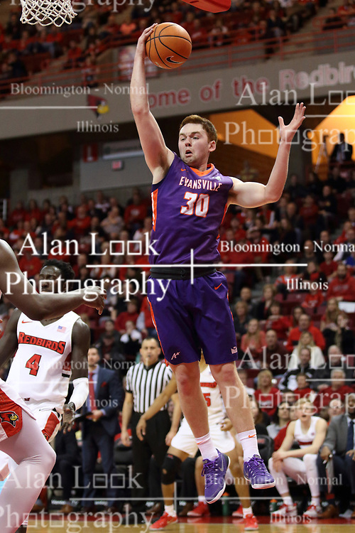 03 February 2018:  Noah Frederking during a College mens basketball game between the Evansville Purple Aces and Illinois State Redbirds in Redbird Arena, Normal IL