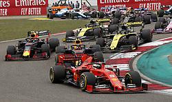 April 14, 2019 - Shanghai, China - Motorsports: FIA Formula One World Championship 2019, Grand Prix of China, .. Start, #5 Sebastian Vettel (GER, Scuderia Ferrari Mission Winnow), #33 Max Verstappen (NLD, Aston Martin Red Bull Racing), #10 Pierre Gasly (FRA, Aston Martin Red Bull Racing), #3 Daniel Ricciardo (AUS, Renault F1 Team), #27 Nico Hulkenberg (GER, Renault F1 Team) (Credit Image: © Hoch Zwei via ZUMA Wire)