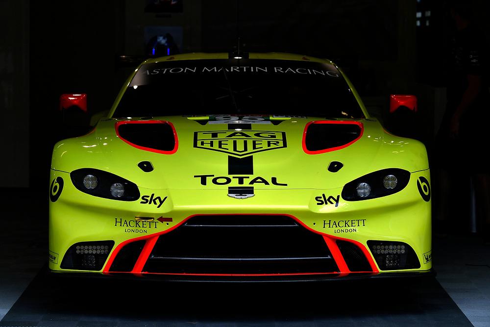 #95 Aston Martin Racing Aston Martin Vantage AMR: Marco Sorensen, Nicki Thiim, Darren Turner<br /> Wednesday 13 June 2018<br /> 24 Hours of Le Mans<br /> 2018 24 Hours of Le Mans<br /> Circuit de la Sarthe  FR<br /> World Copyright: Scott R LePage