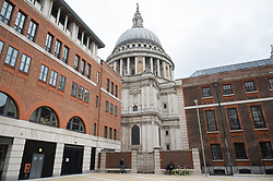 © Licensed to London News Pictures. 24/03/2021. London, UK. Members of the are having lunch in an empty Paternoster Square, City of London, one year after the first coronavirus lockdown was announced.Photo credit: Ray Tang/LNP