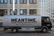 Mantime Brewery beer tanker in London, United Kingdom. Meantime Brewing Company is a brewery based in Greenwich, London, England. In May 2015, SAB Miller acquired the business for an undisclosed amount.