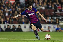 October 20, 2018 - Barcelona, Catalonia, Spain - Leo Messi of FC Barcelona during the La Liga match between FC Barcelona v Sevilla FC at Camp Nou Stadium, in Barcelona on 20 of October, 2018. (Credit Image: © Xavier Bonilla/NurPhoto via ZUMA Press)