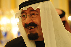 File photo - Saudi King Abdullah bin Abdulaziz has died, royal officials have announced, weeks after he was admitted to hospital. King Abdullah, who was said to be aged about 90, had been suffering from a lung infection. A statement early on Friday said his 79-year-old half brother, Salman, had become king. File photo : King Abdullah bin Abdul Aziz Al Saud and President Nicolas Sarkozy pose after Sarkozy was awarded with King Abdelaziz medal at the King's residence in Riyadh, Saudi Arabia on January 13, 2008. Saudi Arabia's king has appointed his son Mohammed bin Salman as crown prince - replacing his nephew, Mohammed bin Nayef, as first in line to the throne. Prince Mohammed bin Nayef, 57, has been removed from his role as head of domestic security, state media say. Photo by Ammar Abd Rabbo/ABACAPRESS.COM