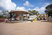Isabel Segunda town square on Vieques Island, Puerto Rico.