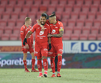 Fotball , 8. november 2019 , Eliteserien , Brann - Odd<br /> <br /> Vito Wormgoor , Brann<br /> Bismar Acosta , Brann