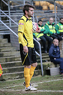 Dave Pearce (Chesham) waits to take the corner during the The FA Cup match between Bradford City and Chesham FC at the Coral Windows Stadium, Bradford, England on 6 December 2015. Photo by Mark P Doherty.